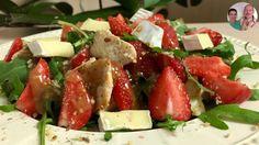 """Летний Салат """"Рапунцель""""! Очень вкусный и сытный салат с клубникой и сыром!"""