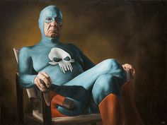 Oil Paintings of An Elderly Superhero's Life by Andreas Englund