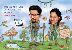 We do premium quality and personalized wedding caricature invites. Good for wedding backdrops, wedding invites and wall decor. Engagement Invitation Template, Indian Wedding Invitation Cards, Indian Wedding Invitations, Invitation Ideas, Invitation Design, Wedding Card Design Indian, Indian Wedding Cards, Bride Entry, Wedding Entrance