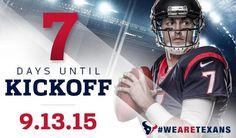 7 more days! #WeAreTexans #TexansGameday