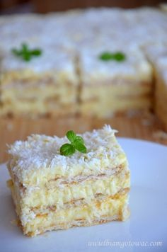 Krem z tego przepisu Polish Desserts, Polish Recipes, No Bake Desserts, Sweet Recipes, Cake Recipes, Serbian Recipes, Vanilla Sugar, Specialty Cakes, Dessert Drinks