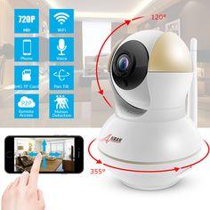 ANRAN 2017 Nouvelle Annonce Sans Fil Caméra IP Wifi 720 P HD de Vision Nocturne Double antenne Caméra de Sécurité Deux-Façon Audio Mobile APP