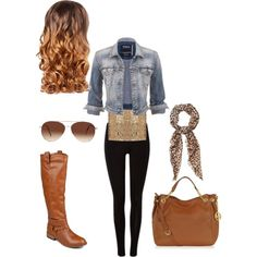 A fashion look from March 2015 featuring Silver Jeans Co. jackets, Journee Collection boots and Michael Kors tote bags. Browse and shop related looks.