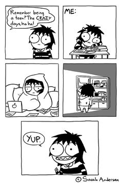 Those were the days. (by Sarah Andersen)