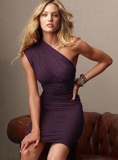Multi-way wrap dress in aubergine... bridesmaids idea....
