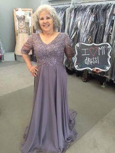 Cristina looks amazing in this Gray/Heather beaded gown by Montage! She is the Mother of the Groom! she came i find her Mother of the Groom dress for the wedding. The wedding will be an outdoor ceremony in Nederland, Texas. I found MY Dress! - Our Customers in their beautiful dresses! Mother of the Bride, Houston TX, T Carolyn, Formal Wear, Evening Dresses, Plus Sizes, Couture, Gala, Gowns