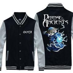 XXXXL Mangix buttons sweatshirt for boys game Dota 2 baseball jacket