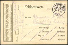 """Germany, German Empires, Esperanto 21. 1. 1915, Germany, """"the world language Esperanto can our soldiers in the Enemy country valuable Services groins …"""", additional imprint on fieldpost card from Leipzig / Lindenau. Price Estimate (8/2016): 15 EUR. Unsold."""
