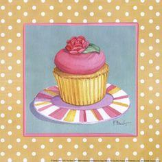 Cupcake Decoupage Images