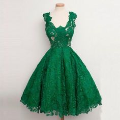 Emerald Green Lace Short Prom Dresses Classic Women Cocktail Dresses Party Evening Formal Dresses Tea length Real Photos vestidos de festa