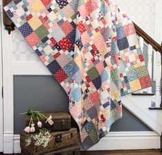 Sewing Craft Image of Cross the Scraps Quilt - It's a fun twist on the Irish Chain! This quilt is great for scraps or your favorite line of fabric. Originally designed for a Craftsy kit with. Plaid Quilt, Rag Quilt, Patch Quilt, Flannel Quilts, Quilt Art, Strip Quilts, Scrappy Quilts, Easy Quilts, Mini Quilts
