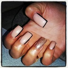 Nude and champagne shellac