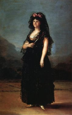 Queen María Luisa Wearing a Mantilla -  Francisco Goya