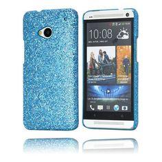Glitter (Blå) HTC One Case