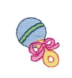 Mini Rattler Filled - 4X4! | Baby | Machine Embroidery Designs | SWAKembroidery.com Bunnycup Embroidery