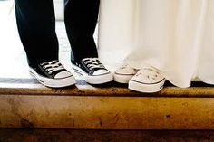 Converse shoes for bride and groom