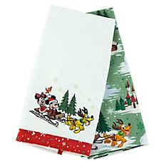 Santa Mickey Mouse and Friends Tea Towels