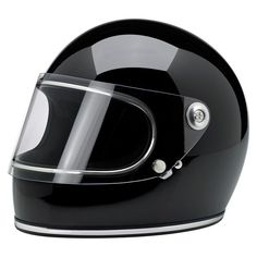 Biltwell Gringo S Full Face Helmet - Gloss Black