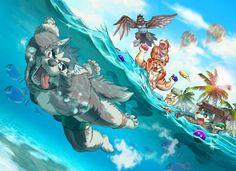 Furry Wolf, Furry Pics, Furry Art, Anime Furry, Furry Drawing, Anthro Furry, Fantastic Art, Fandom, Gay Comics