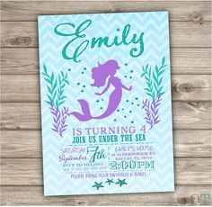 Hey, I found this really awesome Etsy listing at https://www.etsy.com/listing/230997676/mermaid-birthday-invitations-chevron