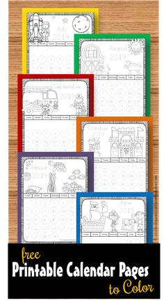FREE Printable Calendar Pages to Color – these monthly themed coloring… – School Calendar İdeas. Kindergarten Calendar, Preschool Calendar, Kindergarten First Day, Preschool Kindergarten, Preschool Monthly Themes, Kindergarten Vocabulary, Teaching Calendar, Toddler Calendar, Kids Calendar