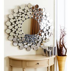 ABBYSON LIVING Empire Burst Round Wall Mirror - 14785357 - Overstock.com Shopping - Great Deals on Abbyson Living Mirrors