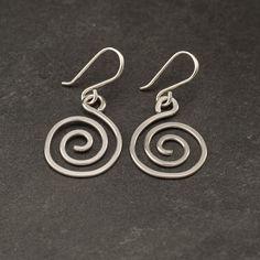 Spiral Earrings Sterling Silver Earrings- Silver Swirl Earrings- Sterling Silver Spiral Earrings- Dangle Earrings- Silver Jewelry by Artulia on Etsy https://www.etsy.com/listing/71129202/spiral-earrings-sterling-silver-earrings