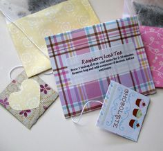 Upgrading tea bags as gifts!