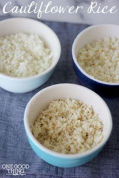 3 Ways To Make Cauliflower Rice