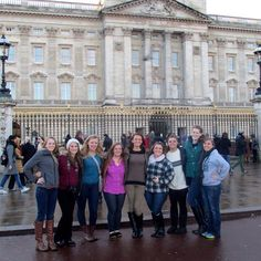 A gaggle of Princesses at the gates of Buckingham Palace!