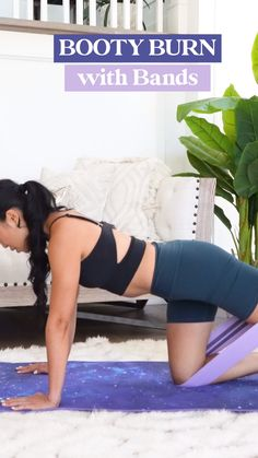 I was really inspired to make this butt workout for you guys after a long 11 hour car ride back from my sister's wedding. You know when you've been sitting so long, your butt is actually SORE? That's why today, I wanted to do a short but intense butt workout with you! All you'll need is a booty band (mine are from POPFLEX). 👉 Click for the full workout! 10 Min Workout, Butt Workout, Sister Wedding, Glutes, Burns, Booty, Fashion, Moda, 10 Minute Workout