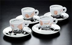 The Most Beautiful Examples from the Illy Coffee Cups Art Coffee Cup Art, Coffee Time, Daniel Buren, Marina Abramovic, Robert Rauschenberg, Cup Design, Italian Artist, Espresso Cups, Cup And Saucer
