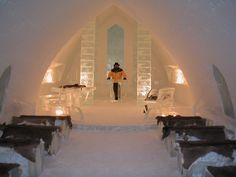 Chapel at the Ice Hotel, Quebec