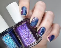 Lacquered Bits: Galaxy Nails With Capricorn Constellation