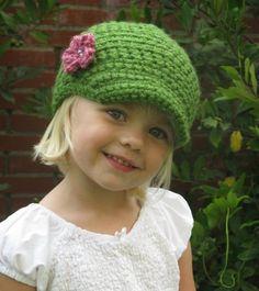 PATTERN Crochet Newsboy Hat Baby Child Beanie by PrairiedogArts.... I think Ashlynn needs one :)