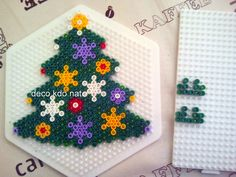 Easy Perler Bead Patterns, Perler Bead Art, Fuse Beads, Pearler Beads, Christmas Perler Beads, Art Perle, Motifs Perler, Hama Beads Design, Beaded Ornaments