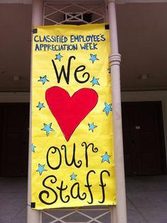 Classified Employee Week 2020 Ideas 21 Best School Banners images in 2016 | School banners