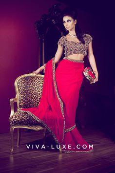 b4f23f12087 Designer Sarees by Seema Khan  Designer  Saree  Bollywoodfashion  SeemaKhan   SareeBlouse Red