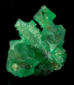Aesthetic Green Octahedral Fluorite from Riemsvasmaak, South Africa
