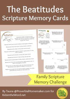 Beatitudes scripture memory cards
