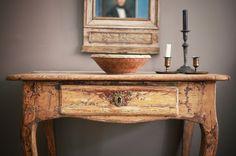 Stunning 18th C Swedish Rococo Console Table.