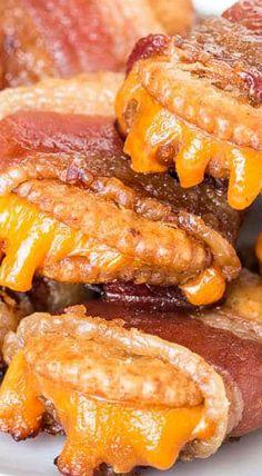 Bacon Wrapped Cheesy Crackers
