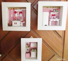 quadros totalmente artesanal, miniaturas de madeira, quadro com vidro frontal