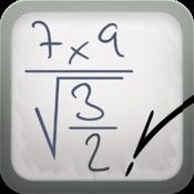 MyScript Calculator- calculator that recognizes handwriting.  Draw in your math problem and watch as this app turns your handwriting into a typed math problem and provides the answer!