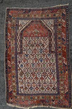 Antique Shirvan /Schirwan Marasali Kabistan prayer rug east caucasus 19th century circa 1870s Size :111 cm /163 cm