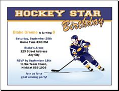 Download Funny Birthday Invites Wording And Templates FREE - Free birthday invitation templates hockey