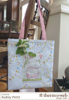Fusible Fleece Lined Tote featuring Hello World by Cori Dantini for Blend Fabrics