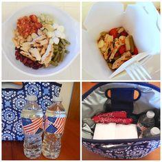 Perfect Picnic Lunch for #MemorialDay Parades - Bruschetta Chicken & Bean Salad