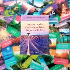 Y a de quoi être fière lorsqu'on voit le résultat concret d'un projet de création de l'automne dernier... oh yeah ! Pour accepter ma vraie nature, un jour à la fois est mon nouveau coffret avec un jeu de 44 cartes et un livret d'accompagnement. Une superbe idée cadeau! Disponible dans toutes les librairies! #bonheur #fierte #realisation