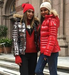 Puffy Jacket, Moncler, Holographic, Parka, Jackets For Women, Metallic, Winter Jackets, Slip On, Fur